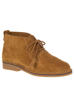 Cyra Catelyn Booties by Hush Puppies®, CAMEL SUEDE, hi-res