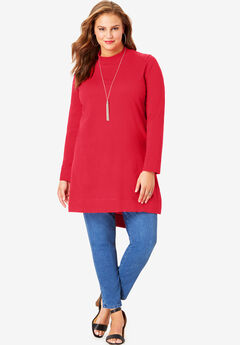 High-Low Mockneck Ultimate Tunic,