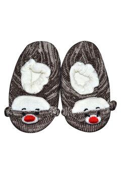 Monkey Slippers by Muk Luks®, BROWN TWEED, hi-res