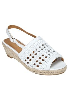 Alexis Sandals by Comfortview®, WHITE, hi-res