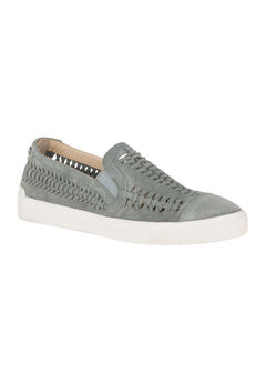 Gabbie Woven Slip-On Sneakers by Hush Puppies®, FROST GRAY SUEDE, hi-res