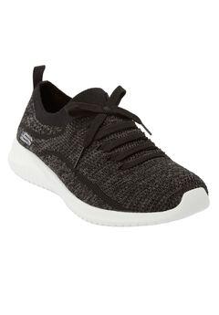 The Ultra Flex Statement Sneaker By Skechers®, BLACK GREY WIDE