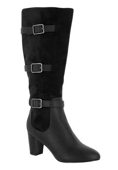 Talina II Plus Wide Calf Boots by Bella Vita®, BLACK, hi-res