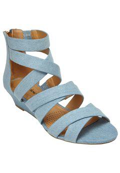 Lenci Sandals by Comfortview®, LIGHT DENIM, hi-res