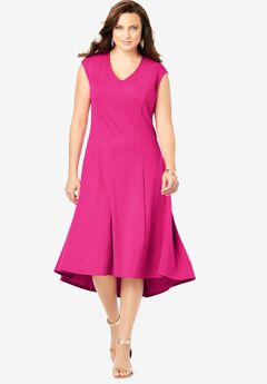 Ultimate Ponte Fit & Flare Dress,