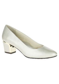 Deanna Pump by Hush Puppies® Soft Style , BONE CROSS PATENT, hi-res