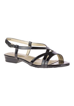 Maisy Sandals by Soft Style®, BLACK PATENT, hi-res