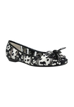 Edie Flats by J. Renee®, BLACK WHITE SPOTTED, hi-res