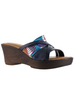 Lucette Sandals by Easy Street®, NAVY FEATHER, hi-res