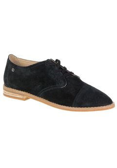 Aiden Clever Flats by Hush Puppies®, BLACK SUEDE, hi-res