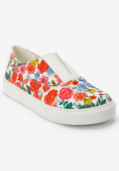 The Maisy Sneaker by Comfortview®, GARDENIA FLORAL