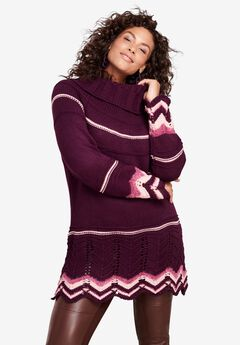 Chevron Border Sweater,