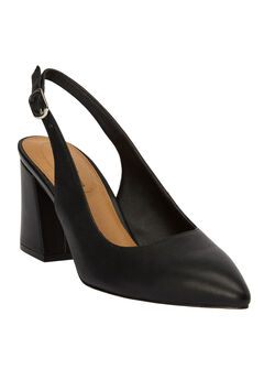 The Liberty Slingback Pump by Comfortview®, BLACK, hi-res