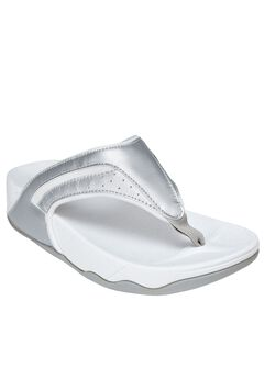 Sporty Thong Sandal by Comfortview®, SILVER, hi-res