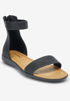 The Bee Sandal by Comfortview®, BLACK
