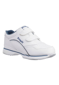 Tour Leather Sneaker by Propet®, WHITE NAVY, hi-res
