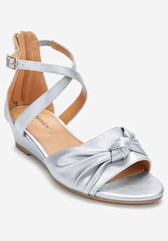 The Austen Sandal by Comfortview®, SILVER
