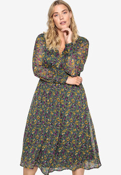 Crochet Empire Seam Dress Castaluna by La Redoute,