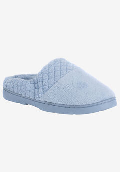 Micro Chenille Slipper Clogs by Muk Luks®, BLUE, hi-res