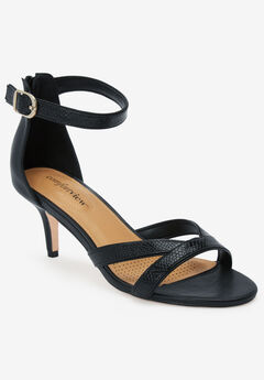 The Iris Sandal by Comfortview®, BLACK