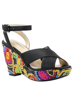 Violette Wedges by J. Renee®, BLACK BRIGHT MULTI, hi-res