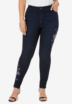 Embroidered Skinny Jean with Invisible Stretch® by Denim 24/7®,