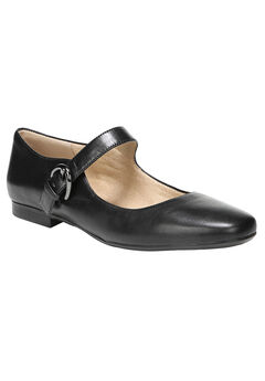 Erica Flats by Naturalizer®, BLACK LEATHER, hi-res