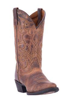 Maddie Cowboy Boots by Laredo, TAN, hi-res