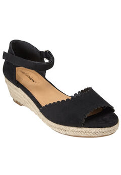 The Charlie Espadrille by Comfortview®, BLACK