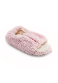 Micro Terry Open-Toe Full Foot Slipper by Muk Luks®,