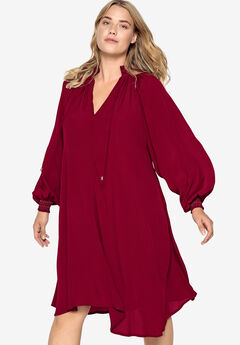 Blouson Sleeve Trapeze Dress Castaluna by La Redoute,