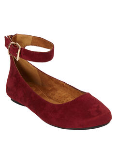 The Leia Flat by Comfortview®, RICH BURGUNDY, hi-res