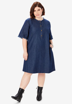 Denim Shirt Dress,