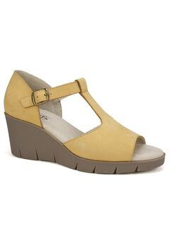 Parisia Leather Wedge by Cliffs,