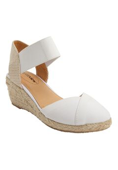 Abra Espadrille by Comfortview®, WHITE
