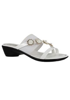 Paradiso Sandals by Easy Street®, WHITE PATENT, hi-res