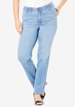 The Skinny-Leg Curvy Jean by Denim 24/7®,