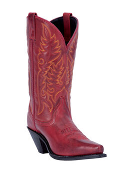 Madison Wide Calf Boots by Laredo, BURNISHED RED, hi-res