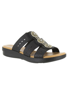 Nori Sandals by Easy Street®, BLACK, hi-res