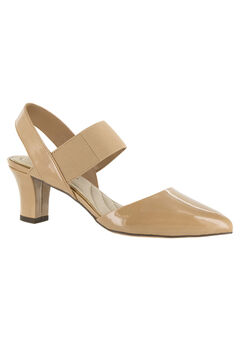 Vibrant Pump by Easy Street®, NUDE PATENT, hi-res