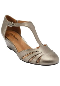Zora T-strap Pump by Comfortview®, GUNMETAL, hi-res