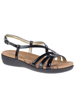 Patrese Sandals by Soft Style®, BLACK PATENT, hi-res