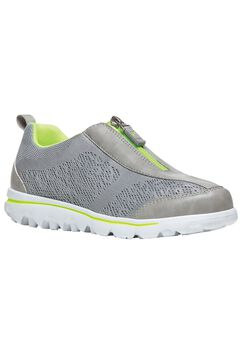 TravelActive Zip Sneakers by Propet®, SILVER LIME, hi-res