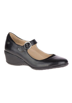 Odell Mary Jane Pumps by Hush Puppies®, BLACK LEATHER, hi-res