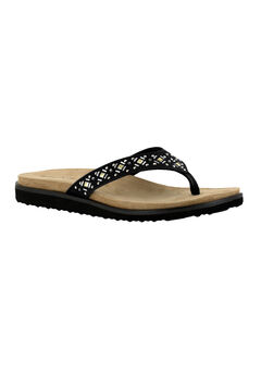 Stevie Sandals by Easy Street®, BLACK, hi-res