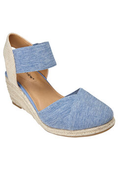 The Abra Espadrille by Comfortview®, DENIM