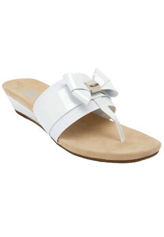 Impeccable Sandals by Anne Klein®, WHITE