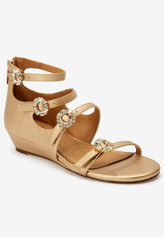 The Hilary Sandal by Comfortview®, GOLD
