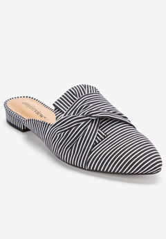The Mayli Mule by Comfortview®, BLACK STRIPE