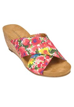 Sheba Sandals by Comfortview®, WATERCOLOR FLORAL, hi-res